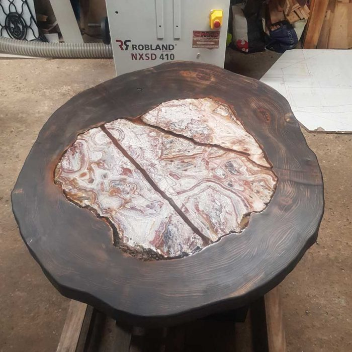 table basse agate
